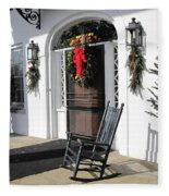 Porch At Boone Hall Plantation Charleston Sc Fleece Blanket