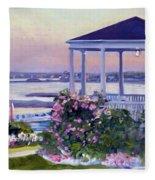 Porch At Sunet Fleece Blanket