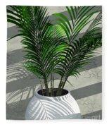 Porch Plant Fleece Blanket