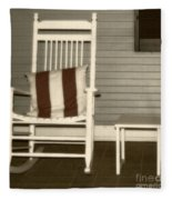 Porch Rocker Fleece Blanket