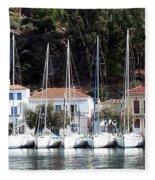 Poros Greece Fleece Blanket