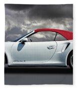 Porsche 911 Turbo S With Clouds Fleece Blanket