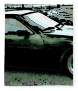 Porsche 944 On A Hot Afternoon Fleece Blanket