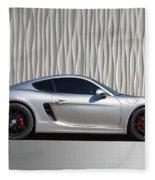 Porsche Beautiful Dream Sports Car Fleece Blanket