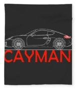 Porsche Cayman Phone Case Fleece Blanket