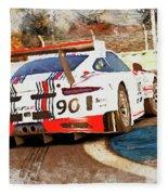 Porsche Gt3 Martini Racing - 02 Fleece Blanket