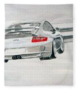 Porsche Gt3 Fleece Blanket