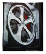 Porsche Techart Wheel Fleece Blanket