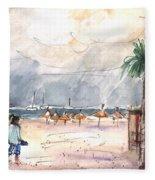 Port Alcudia Beach 01 Fleece Blanket