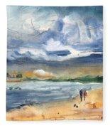 Port Alcudia Beach 03 Fleece Blanket