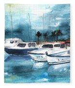 Port Alcudia Harbour 01 Fleece Blanket