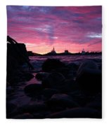 Port Angeles Harbor Eleven Fleece Blanket