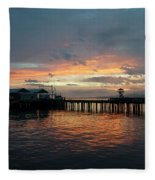 Port Angeles Sunrise Fleece Blanket