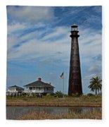 Port Bolivar Lighthouse Fleece Blanket