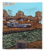 Port Burwell, Ontario Fleece Blanket