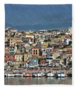 Port City Parga Greece - Dwp1163344 Fleece Blanket