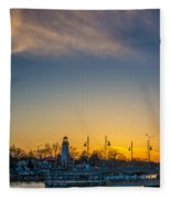 Port Credit 4 Fleece Blanket