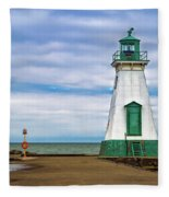 Port Dalhousie Lighthouse 1 Fleece Blanket