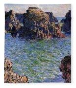 Port Goulphar Belle Ile Brittany Fleece Blanket