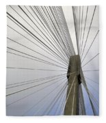 Port Mann Bridge Fleece Blanket
