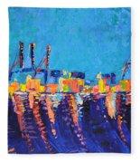 Port Of Malaga Fleece Blanket