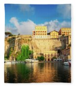 Port Of Sorrento, Southern Italy Fleece Blanket