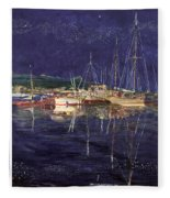 Marina Evening Reflections Fleece Blanket