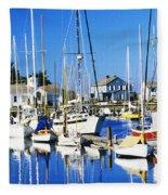 Port Townsend Harbor Fleece Blanket