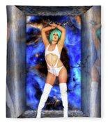 Portal Of Space Through Time Fleece Blanket