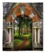 Portal To Portumna Forest Fleece Blanket by James Truett