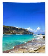 Porte D Enfer, Guadeloupe Fleece Blanket