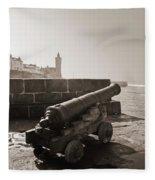 Porthleven Cannon Sepia Fleece Blanket