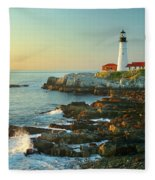 Portland Head Light No. 2  Fleece Blanket