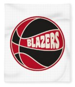 Portland Trail Blazers Retro Shirt Fleece Blanket