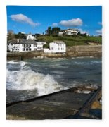 Portmellon In Winter Fleece Blanket