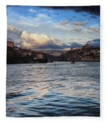 Porto And Vila Nova De Gaia River View Fleece Blanket
