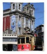 Porto Trolley 1 Fleece Blanket