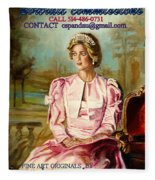 Portrait Commissions By Portrait Artist Carole Spandau Fleece Blanket