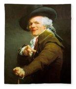 Portrait De L Artiste Sous Les Traits D Un Moqueur 1793 Fleece Blanket