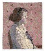 Portrait In Profile Fleece Blanket