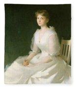 Portrait In White Fleece Blanket