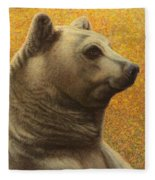 Portrait Of A Bear Fleece Blanket