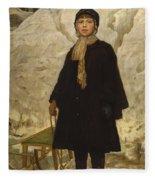 Portrait Of A Child Fleece Blanket