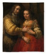 Portrait Of A Couple As Figures From The Old Testament Fleece Blanket
