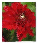 Portrait Of A Flower Fleece Blanket