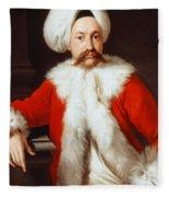 Portrait Of A Gentleman In Oriental Costume Fleece Blanket