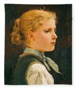 Portrait Of A Girl Fleece Blanket