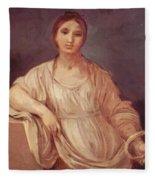 Portrait Of A Girl With Crown 1642 Fleece Blanket