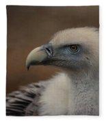 Portrait Of A Griffon Vulture Fleece Blanket