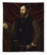 Portrait Of A Knight Of The Order Of Santiago Fleece Blanket